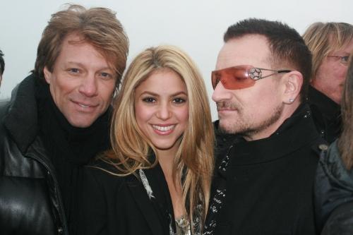 Bono, Bon Jovi and Shakira