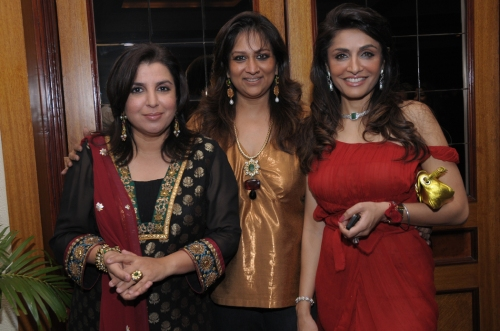 Farah Khan, Sharmilla Khanna and Queenie Dhody