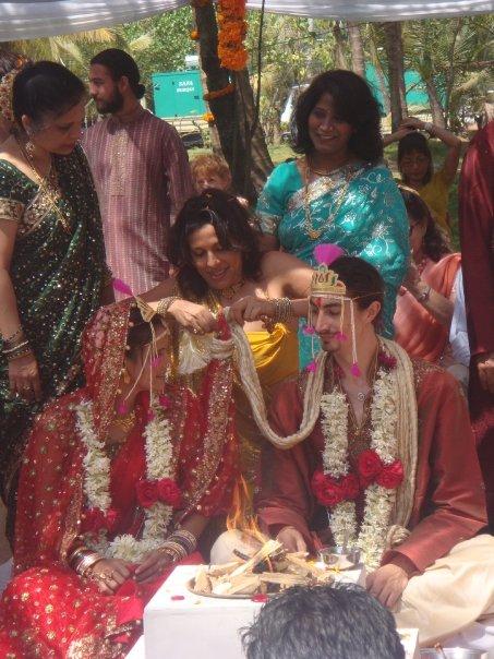 Nisha Harale, Pooja Bedi and Adam Bedi