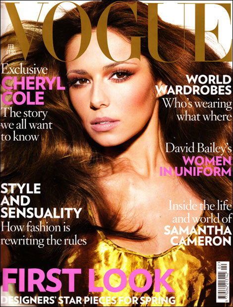 Cheryl Cole on the cover of Vogue
