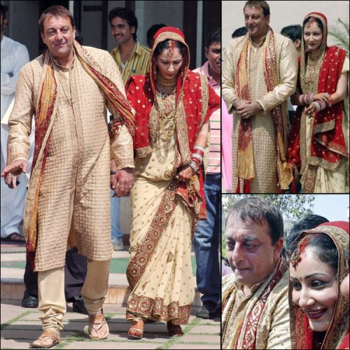 Sanjay & Maanayata Dutt at their wedding