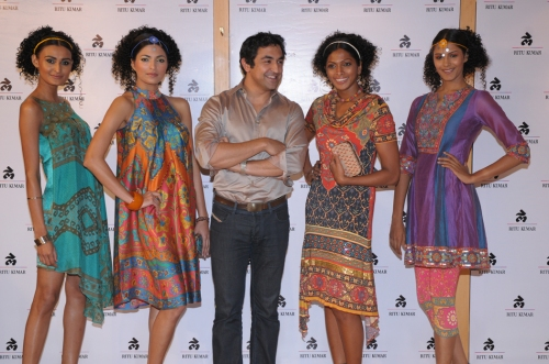 Amrish Kumar, Creative Director LABEL with models
