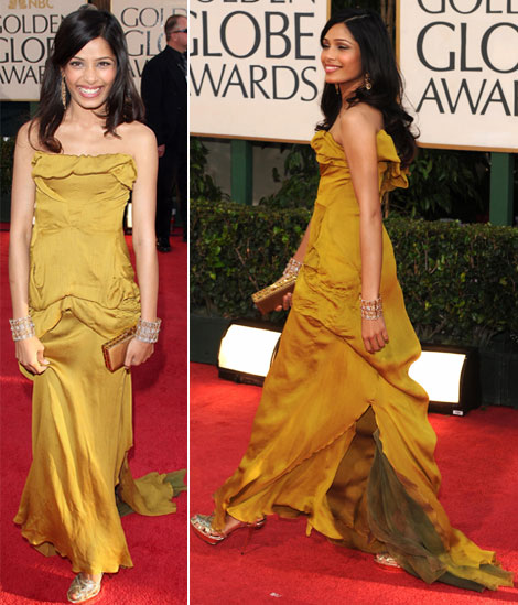 Frida Pinto at the Golden Globes
