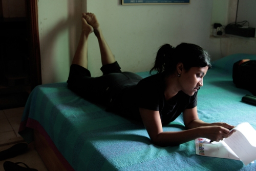Konkona Sen Sharma at home, Mumbai