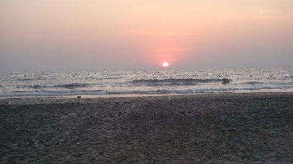 sunset outside Ku
