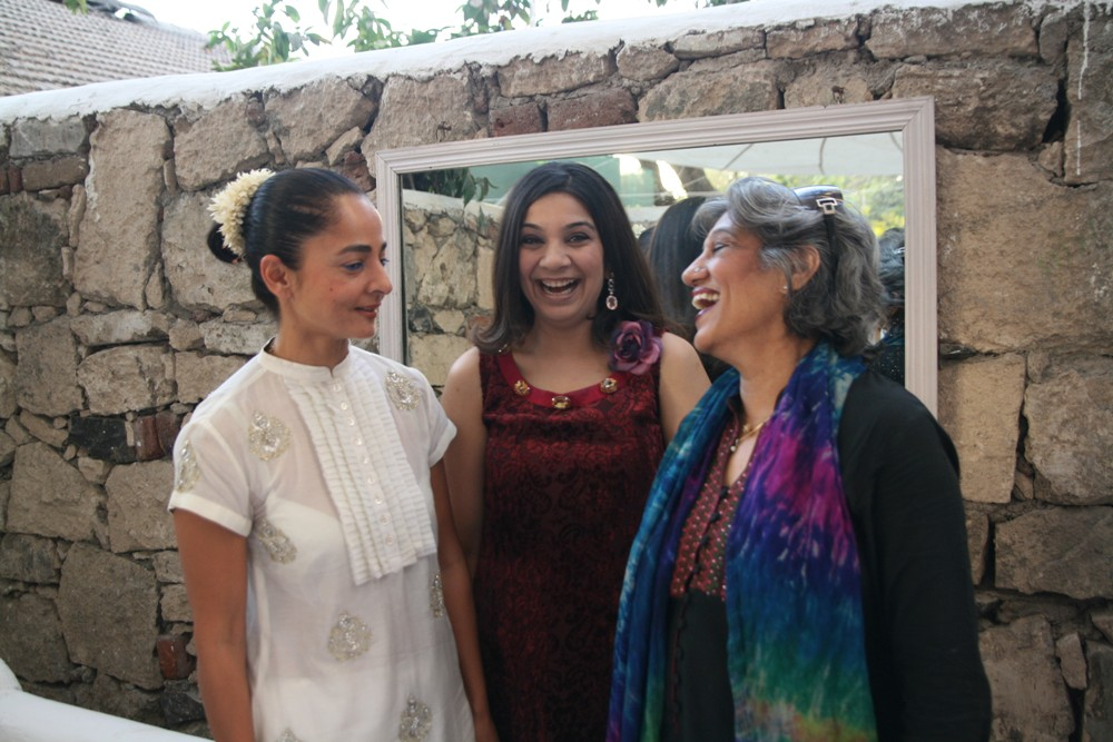 Sabina Chopra, Larra Shah and Dolly Thakore