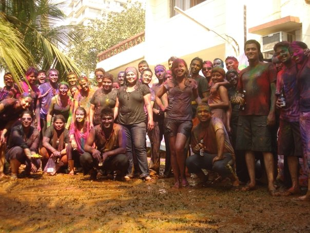 Happy Holi! (Can you spot me front and centre?)