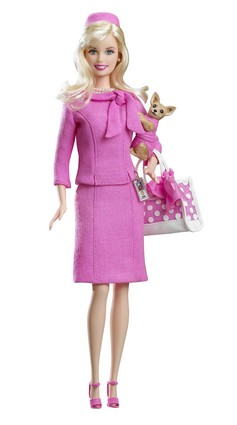 "Elle Woods as played by Reese Witherspoon in ""Legally Blonde"""