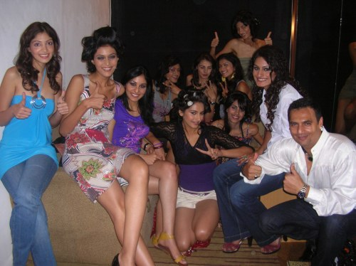 Marc Robinson with his Miss India finalists