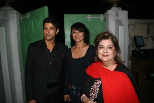 Farhan Akhtar, Adhuna Akhtar and Mahabanoo Kotwal