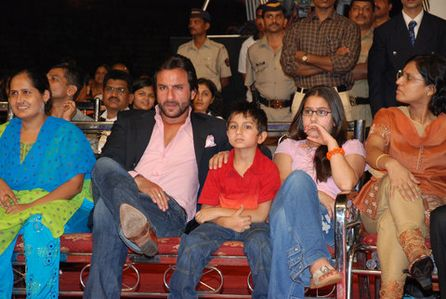 Saif Ali, Ebrahim and Sarah Khan