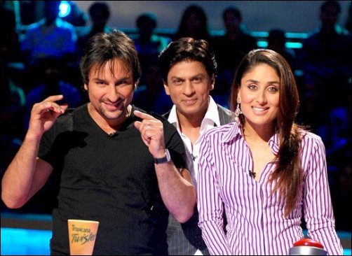 Saif Ali Khan, Shah Rukh Khan and Kareena Kapoor