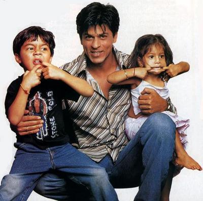 Aryaan, Shah Rukh and Suhana Khan