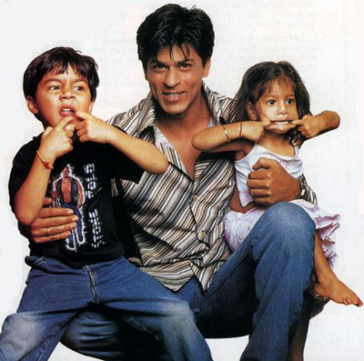 Aryaan, Shah Rukh and Suhana Khan