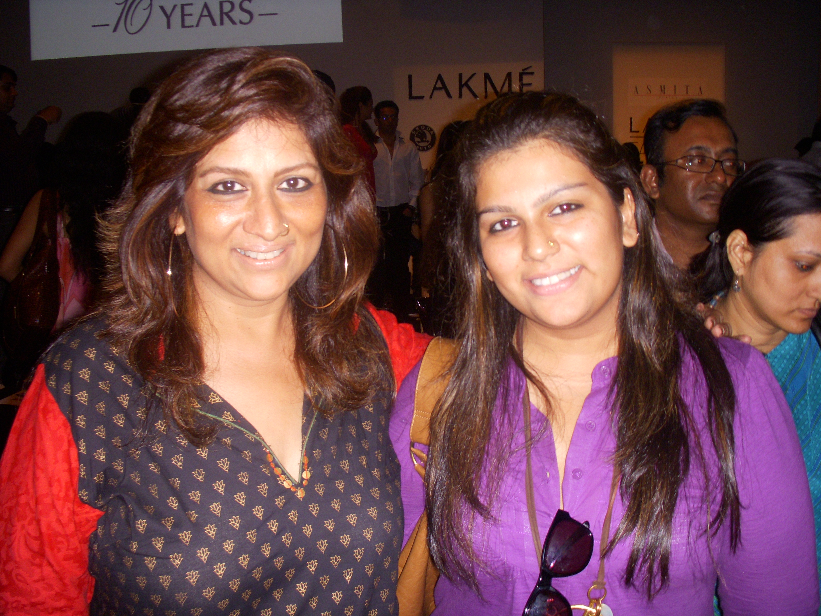 Sharmilla Khanna with her daughter