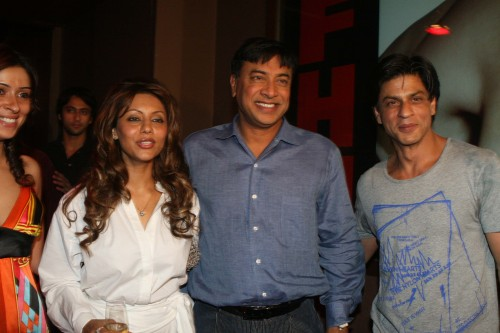 Gauri Khan, Laskhmi Mittal and Shah Rukh Khan