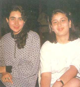 Karishma & Kareena Kapoor (I feel maybe this explains the current size 0 obsession!)