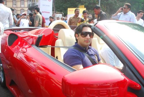 Adar Poonawala with his Ferrari 430 Spyder 2