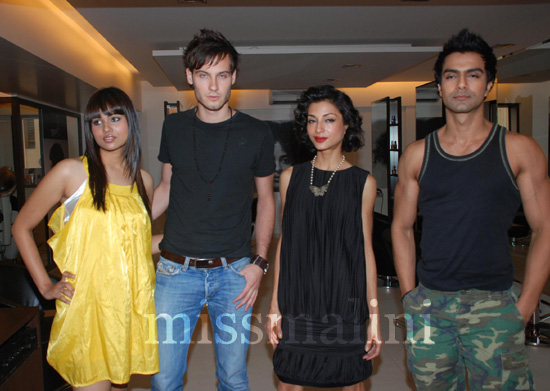 drija Chatterjee, Laurent Petitfrere, Akanksha Nanda and Ashmit Patel showcase summer hairdos by Ity Agarwal