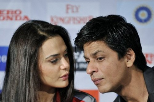 Preity Zinta and Shah Rukh Khan