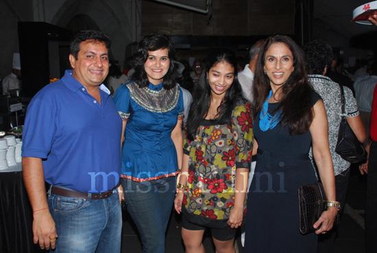 Amrish & Shalini Arora, Shobhaa De and daughter Anindita