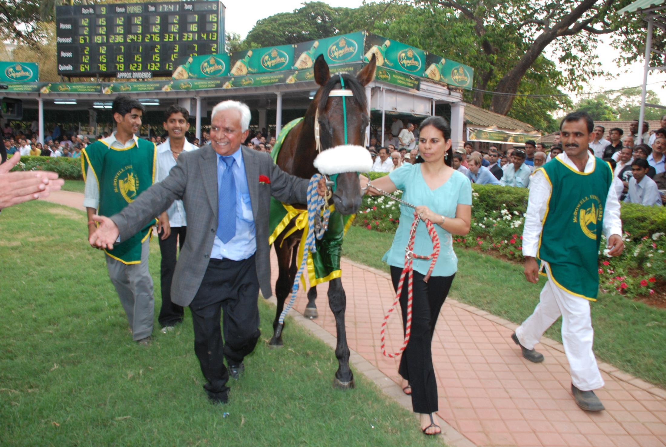 Antonios with trainer S.S. Shah