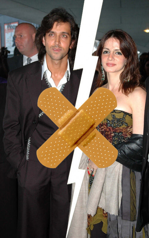 Hrithik and Suzzane Roshan