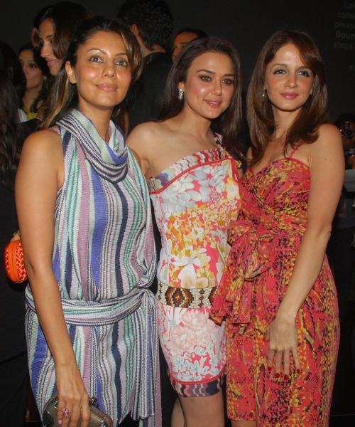 Gauri Khan, Preity Zinta, Suzanne Roshan