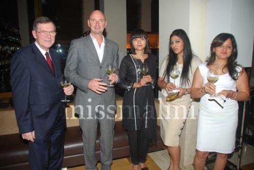 Christopher Newbery, Craig Wedge, Mrs. Newbery, Aishwarya Nair and Dharti Desai