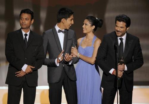 Irrfan Khan, Dev Patel, Freida Pinto and Anil Kapoor