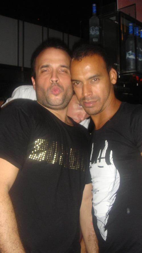 Matan and a friend