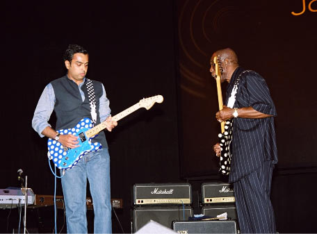 Milind Deora and Buddy Guy