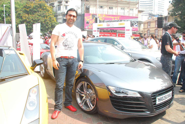 Raj Kundra with his Audi r8