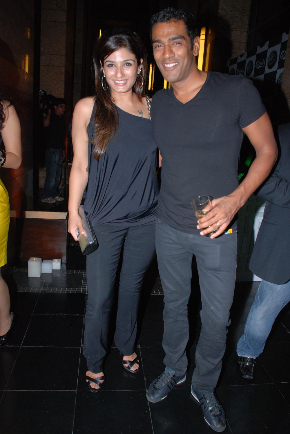 Raveena Tandon with Ravi Krishnan