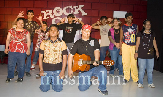 SPJ Sadhana kids performing on Rock On!