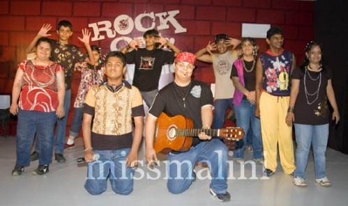 SPJ Sadhana kids performing on Rock On!