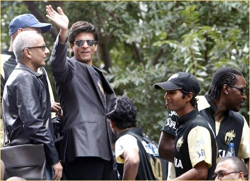 Shah Rukh Khan and the Kolkata Knight Riders