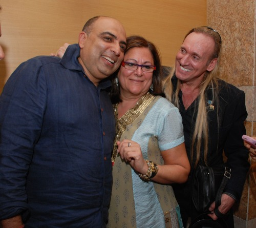 Tarun Tahiliani, Fern Mallis and Gregory David Roberts
