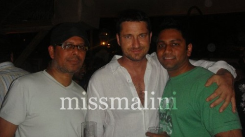 Narendra Kumar, Gerard Butler and Ken Chin