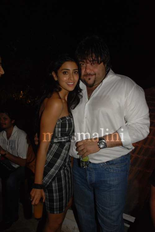 Shriya Saran and Riyaaz Amlani