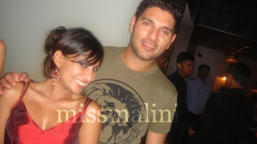 missmalini and Yuvraj Singh