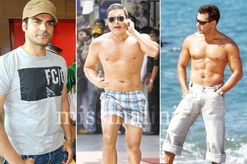 Arbaaz, Sohail and Salman Khan