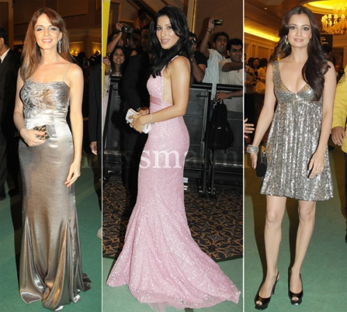 Sussane Roshan, Sophie Choudry and Diya Mirza