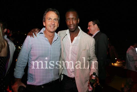 Michael Johnson (right)