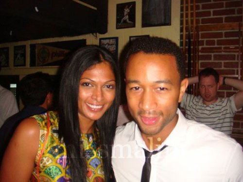 Nina Maneul and John Legend