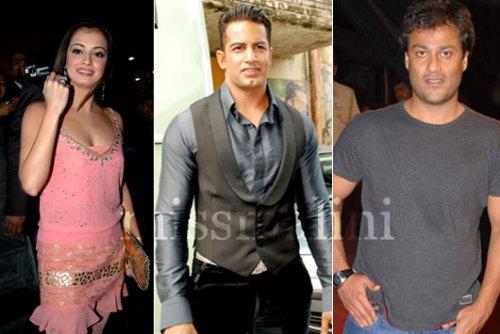 Diya Mirza, Upen Patel and Abhishek Kapoor